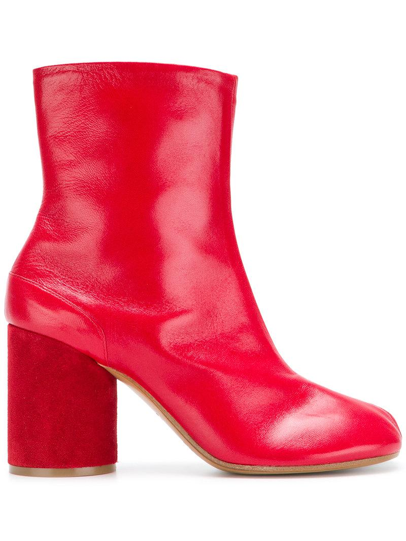 block heel boots - Red Maison Martin Margiela OuiRbJ5