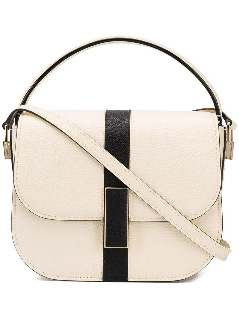 Valextra Iside Crossbody Bag in White - Lyst d5de7a9fc766d