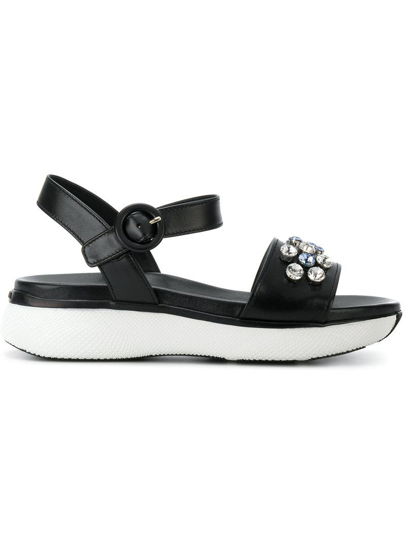 Prada slingback bow sandals - Black farfetch Pelle