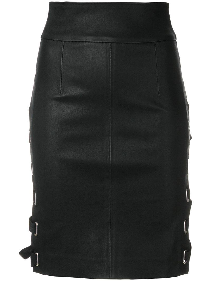 5ff8a9fb7 Each x Other Lace-up Side Fitted Skirt in Black - Lyst