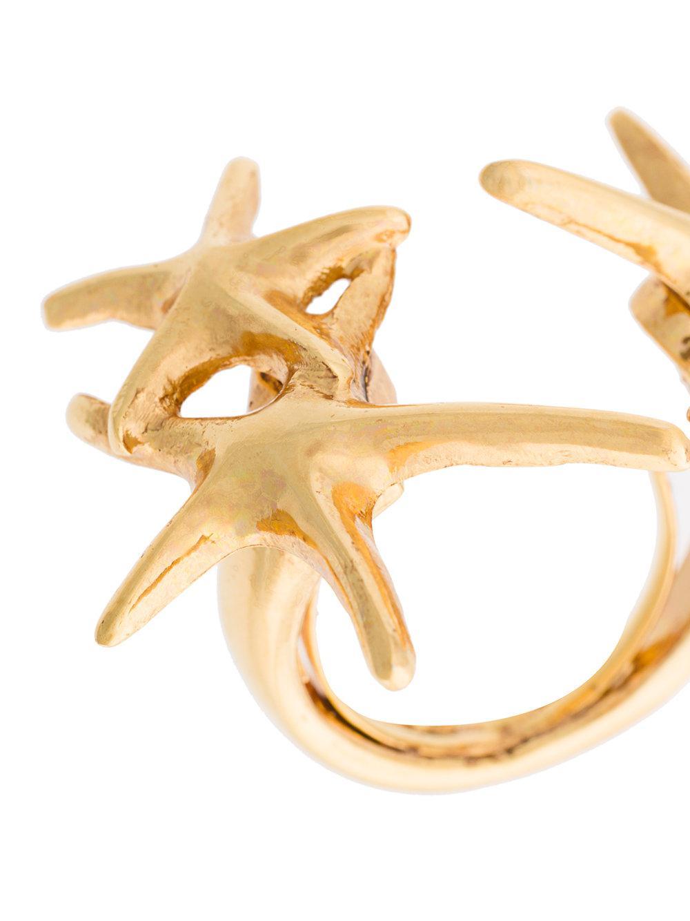 Oscar De La Renta starfish ring - Metallic vMhgCyRA