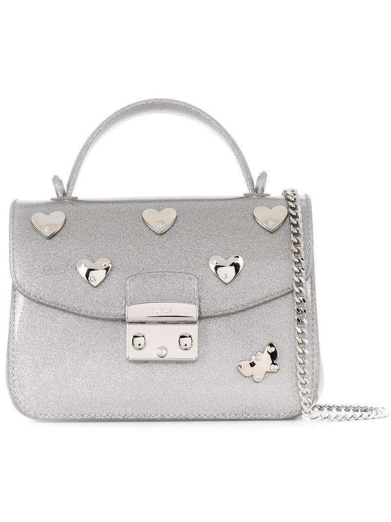 f0024fd03f0a Furla Candy Crossbody Bag in Metallic - Lyst
