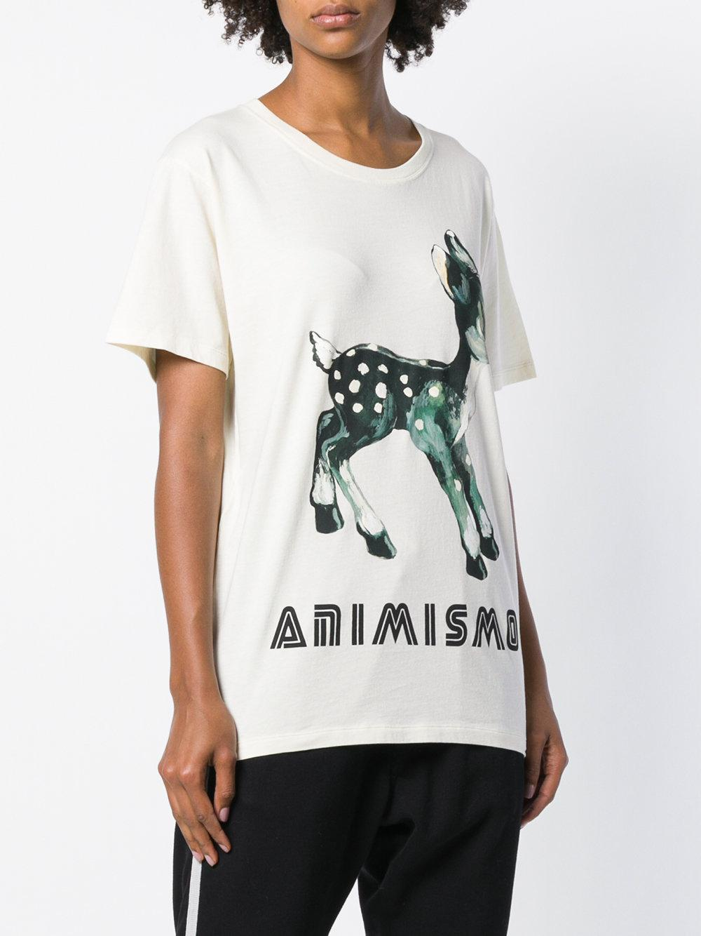 7fb3253b347 Lyst - Gucci Bambi Animismo T-shirt