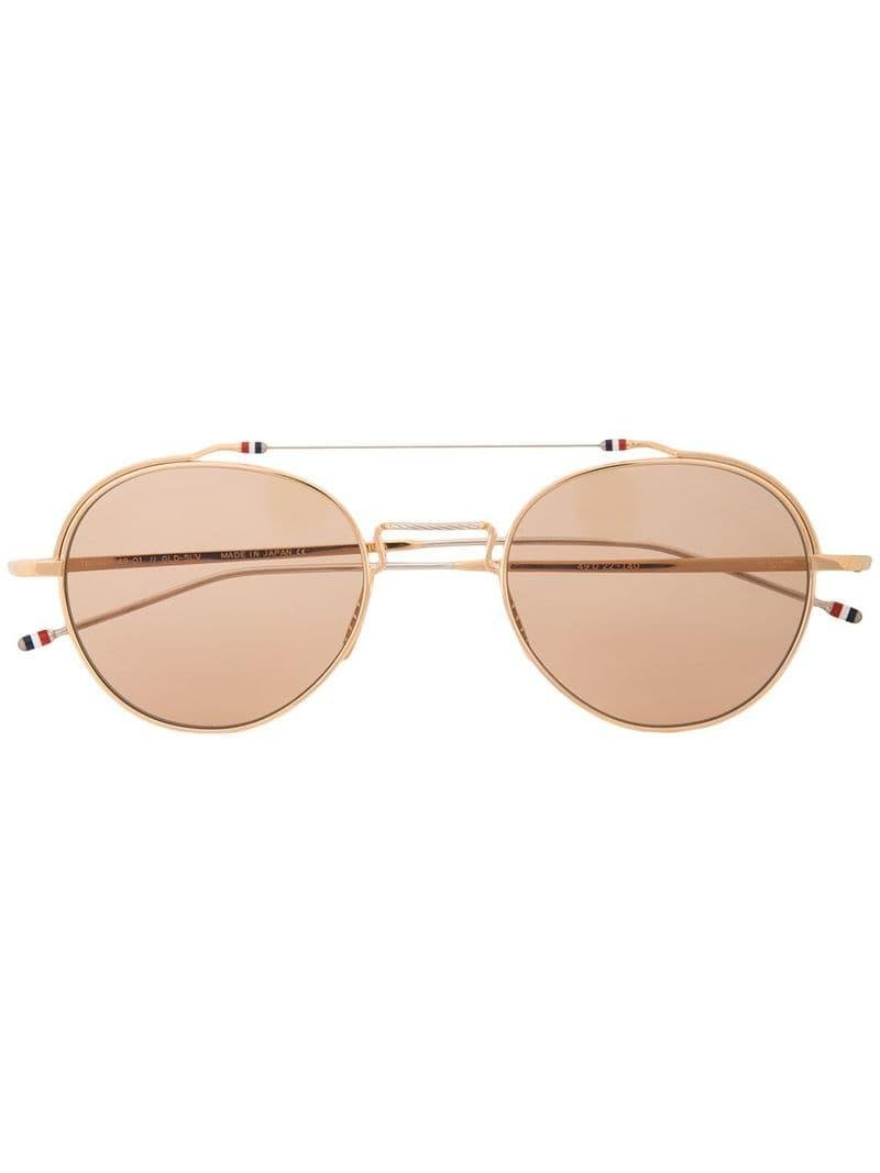 8ea4478175ee7 Lyst - Thom Browne Round Sunglasses in Brown for Men