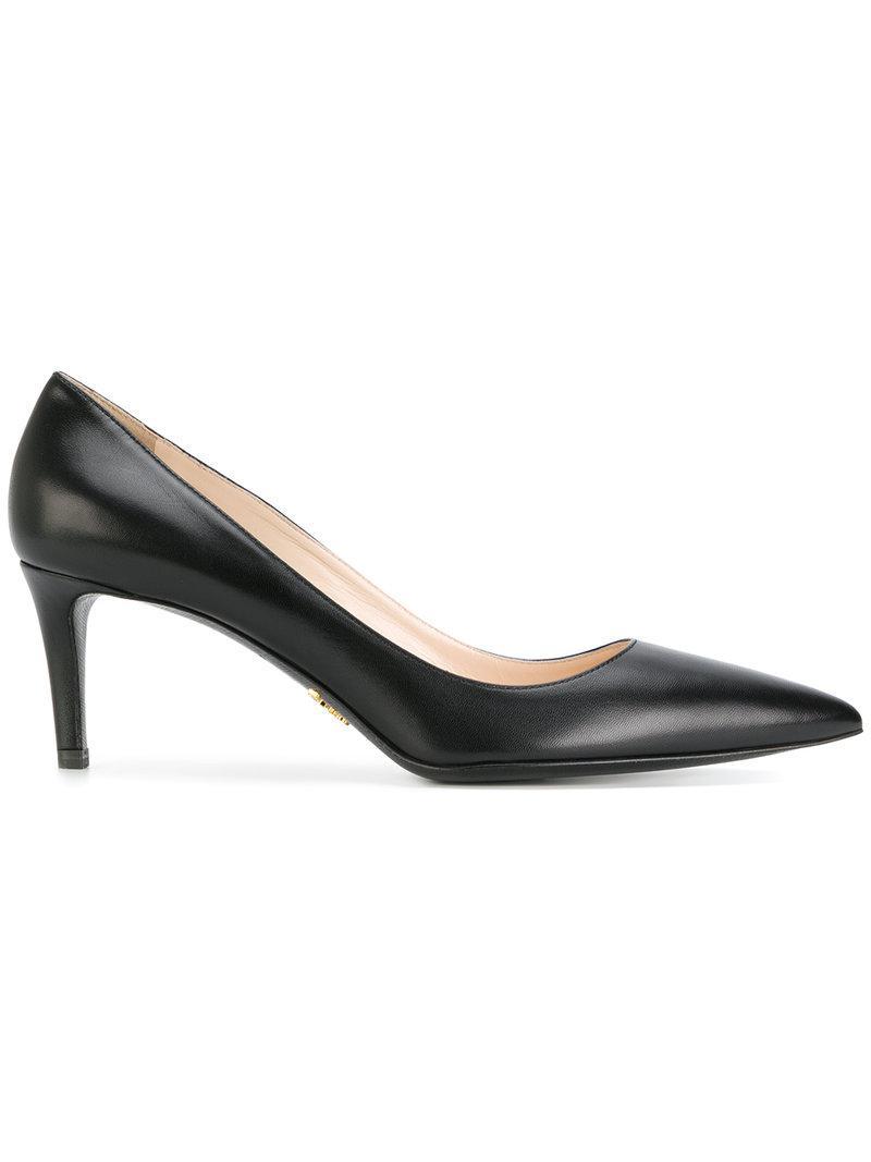 Prada Classic Stiletto Pumps in Black - Lyst 19645676dda