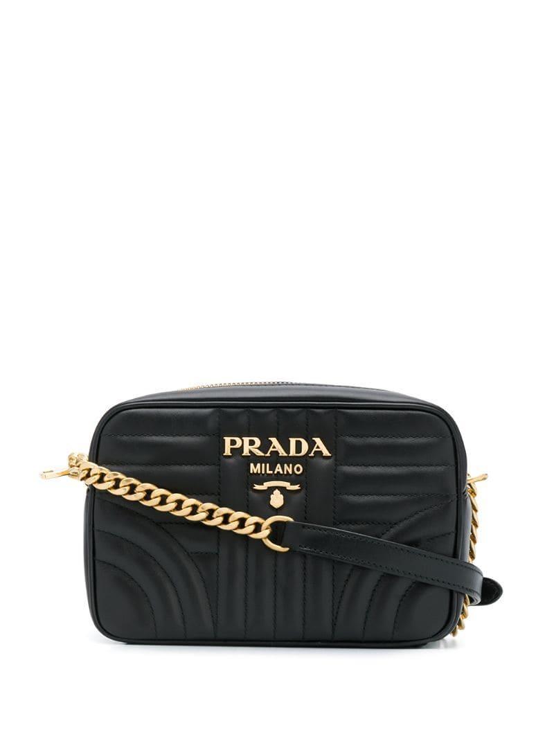 5a871342e Prada - Black Diagramme Crossbody Bag - Lyst. View fullscreen