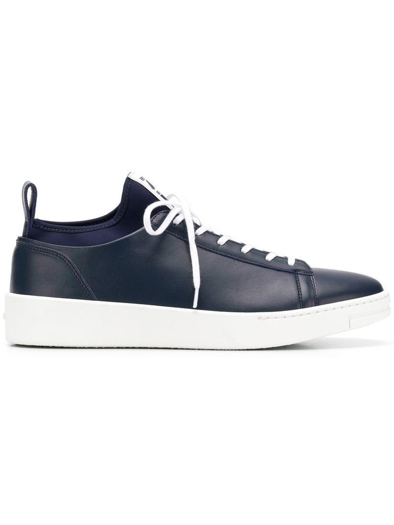 d91d20b40a Lyst - Kenzo Logo Patch Sneakers in Blue for Men - Save ...