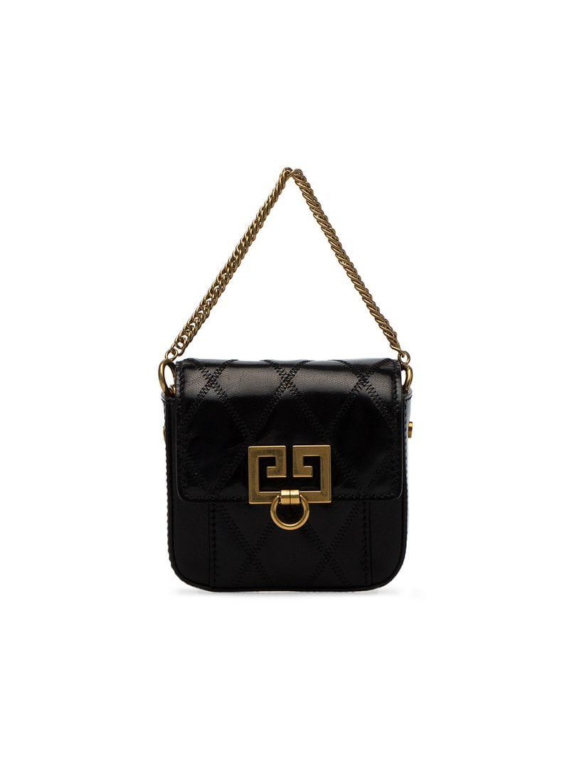 e71858a9c1e8 Lyst - Givenchy Black Nano Box Quilted Leather Mini Bag in Black