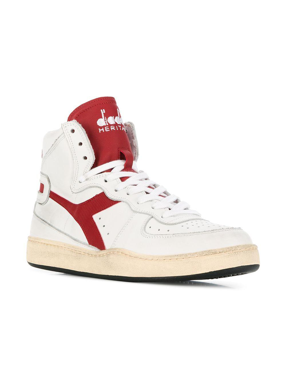 9a36445450 Diadora Side Logo High Top Sneakers in White for Men - Lyst