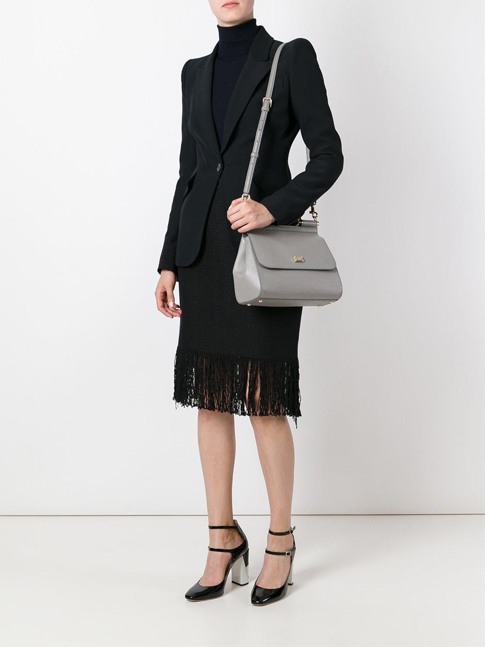 Dolce   Gabbana - Gray Medium  sicily  Tote - Lyst. View fullscreen 61969946a5f91