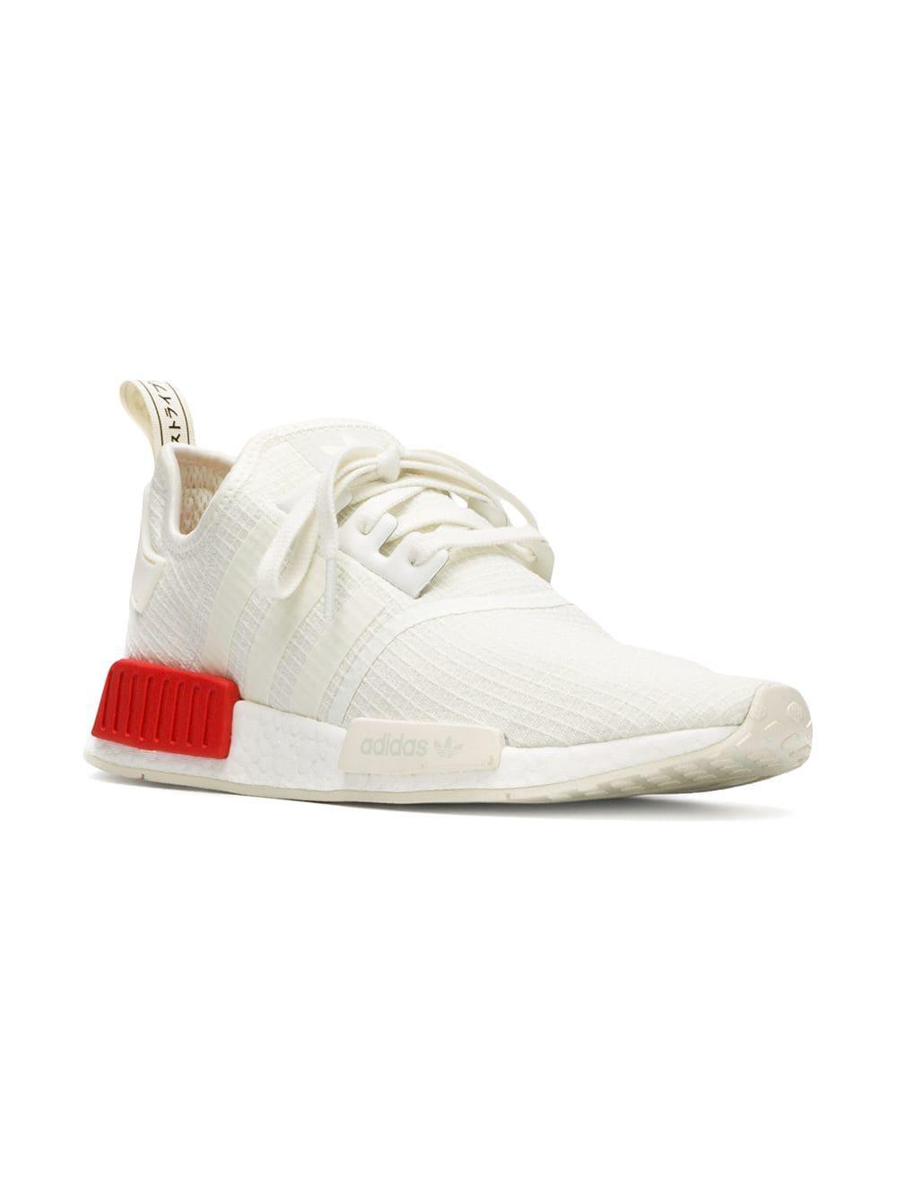 1a176e17d adidas Nmd R1 Sneakers in White for Men - Lyst