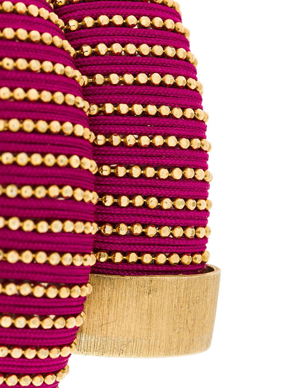 Carolina Bucci Caro cuff bracelet - Pink & Purple mrTKD