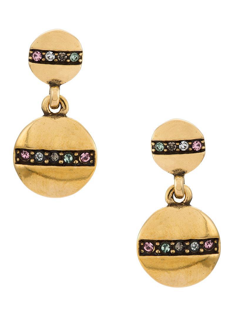 Camila Klein strass embellished drop earrings - Metallic AEsJN7d3