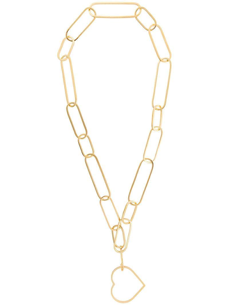 SeeMe elongated chain necklace - Metallic pIRUZR