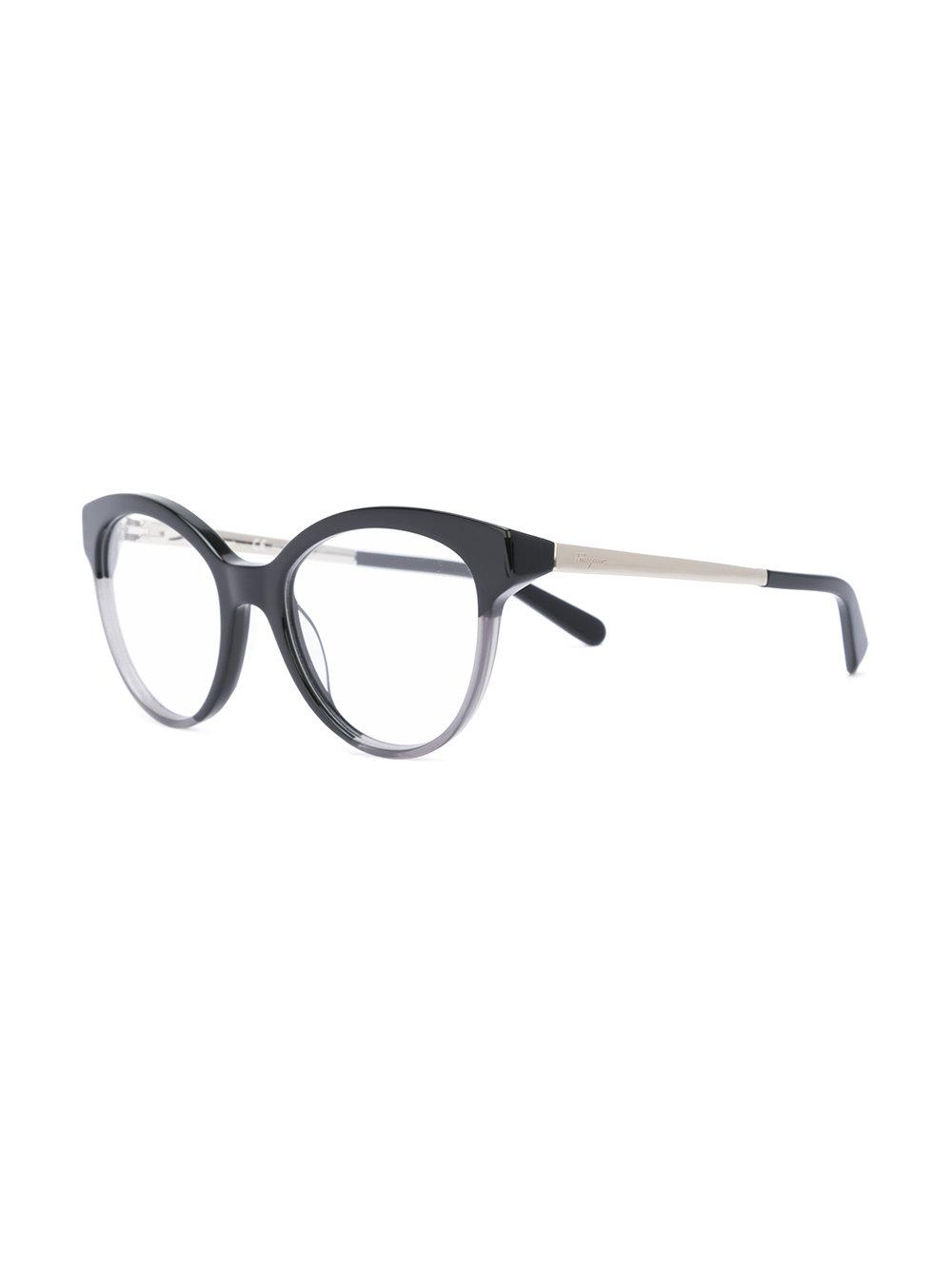 c57f0591ea2 Ferragamo Cat Eye-frame Optical Glasses in Black - Lyst