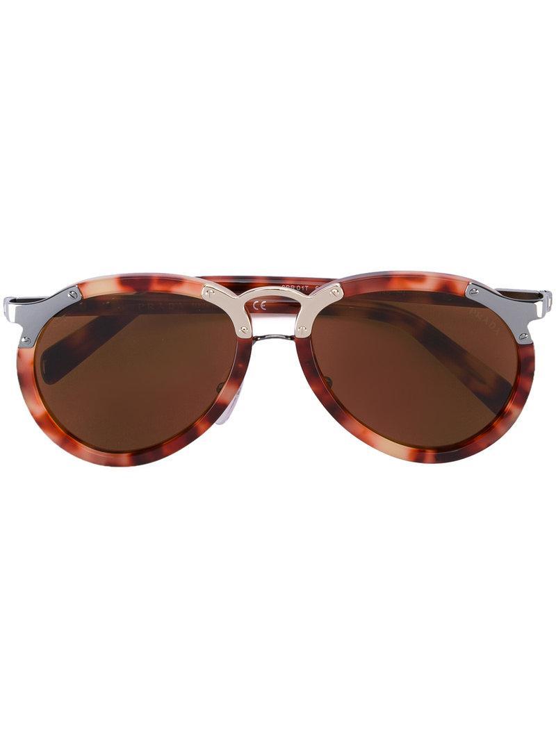 9ede3195aa962 Prada  spr01t  Sunglasses in Red - Lyst