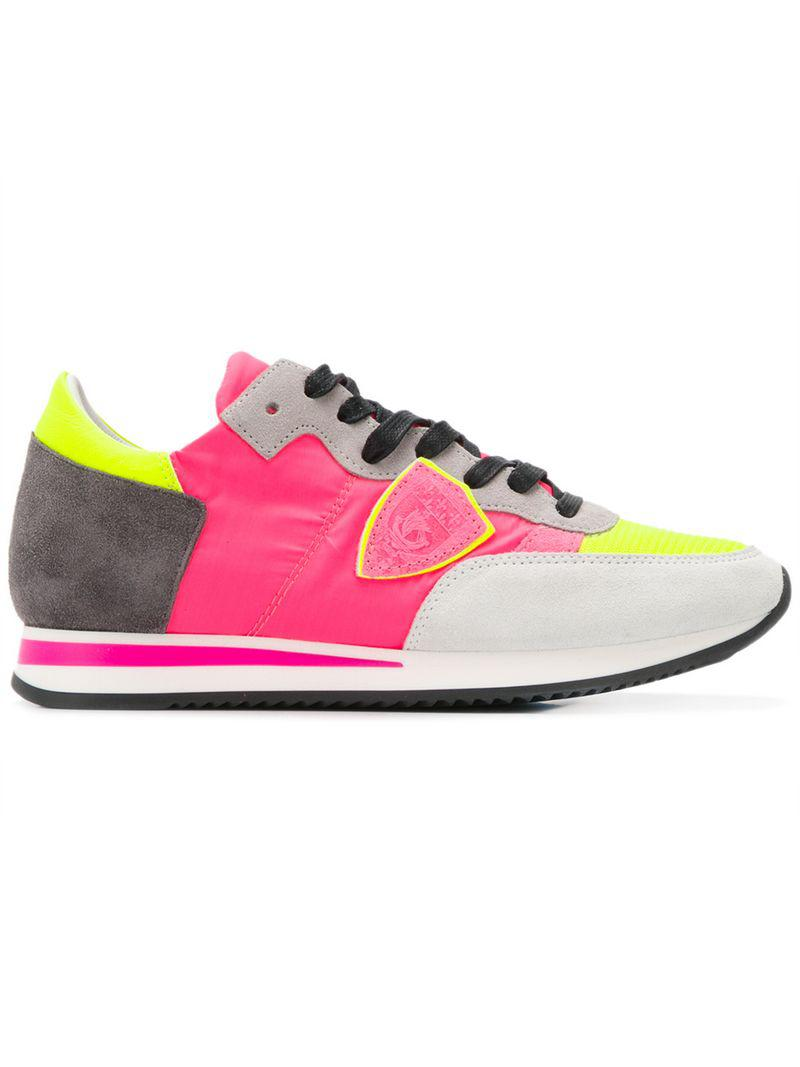 b97dd4645530 Lyst - Philippe Model Logo Patch Sneakers in Pink - Save 23%