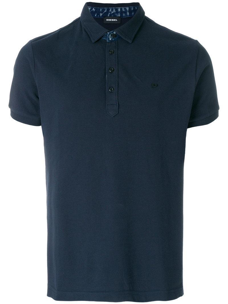 lyst diesel t raga polo shirt in blue for men. Black Bedroom Furniture Sets. Home Design Ideas