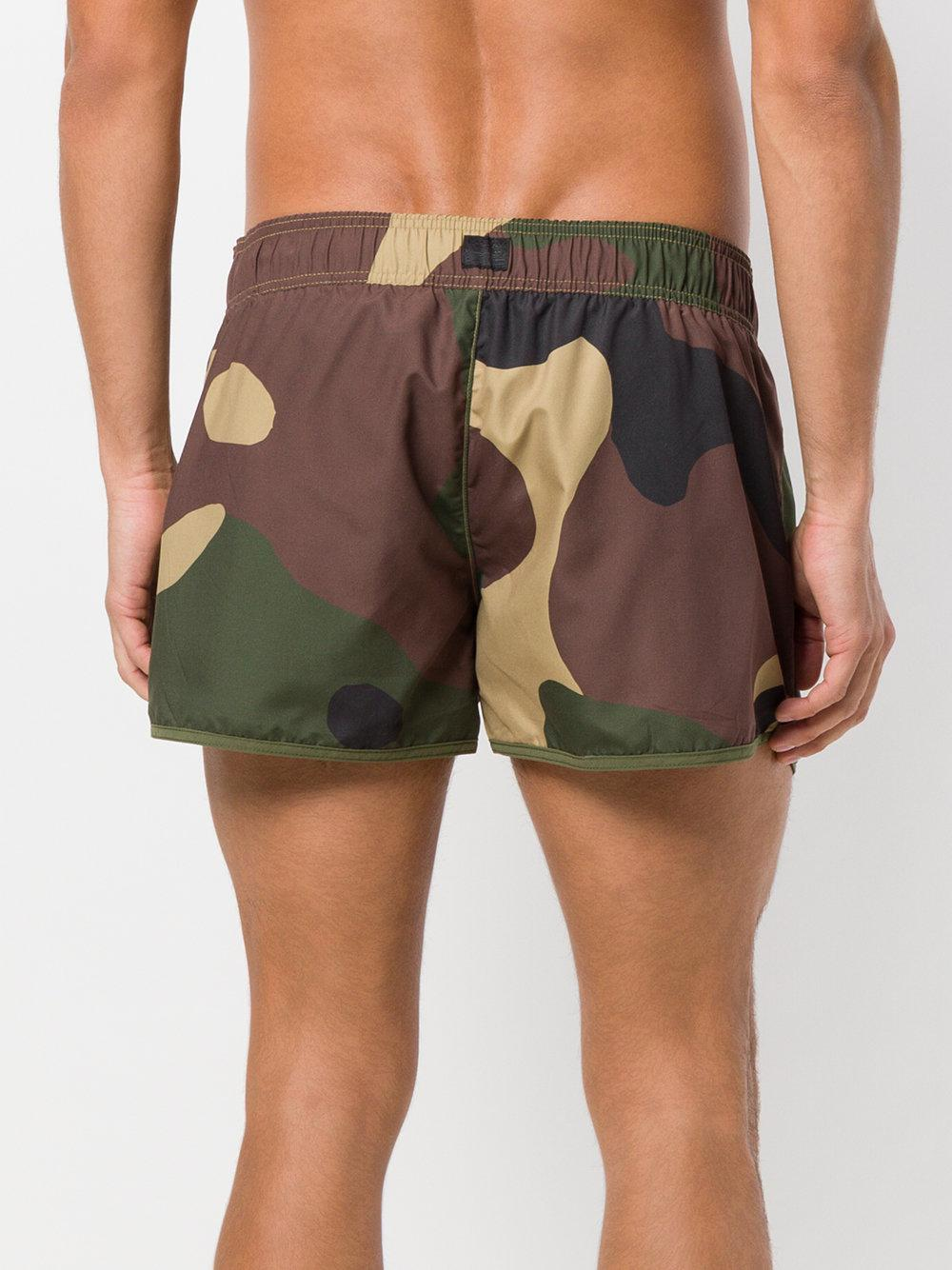 474d77285b G-Star RAW Camouflage Print Swimming Trunks in Green for Men - Lyst