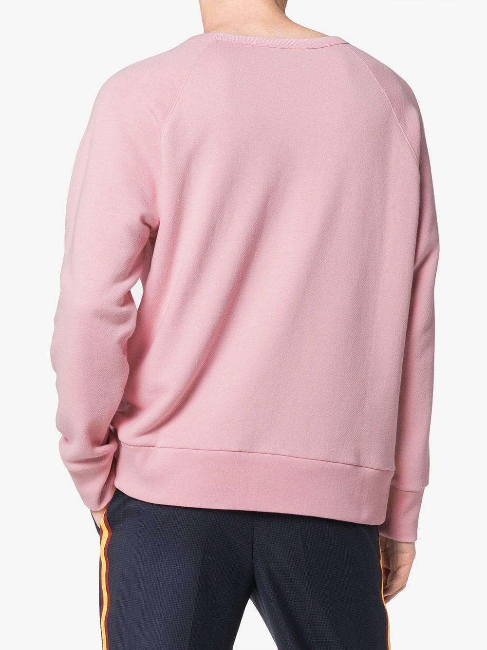 7ef732402 Gucci Baby Print Logo Long Sleeve Sweatshirt in Pink for Men - Lyst