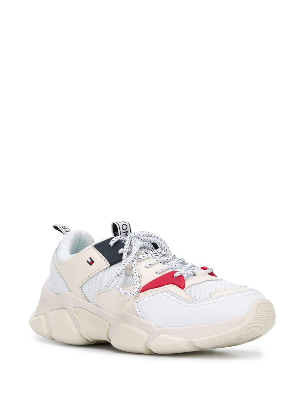 8691f0f4641b Lyst - Tommy Hilfiger Chunky Sneakers in White