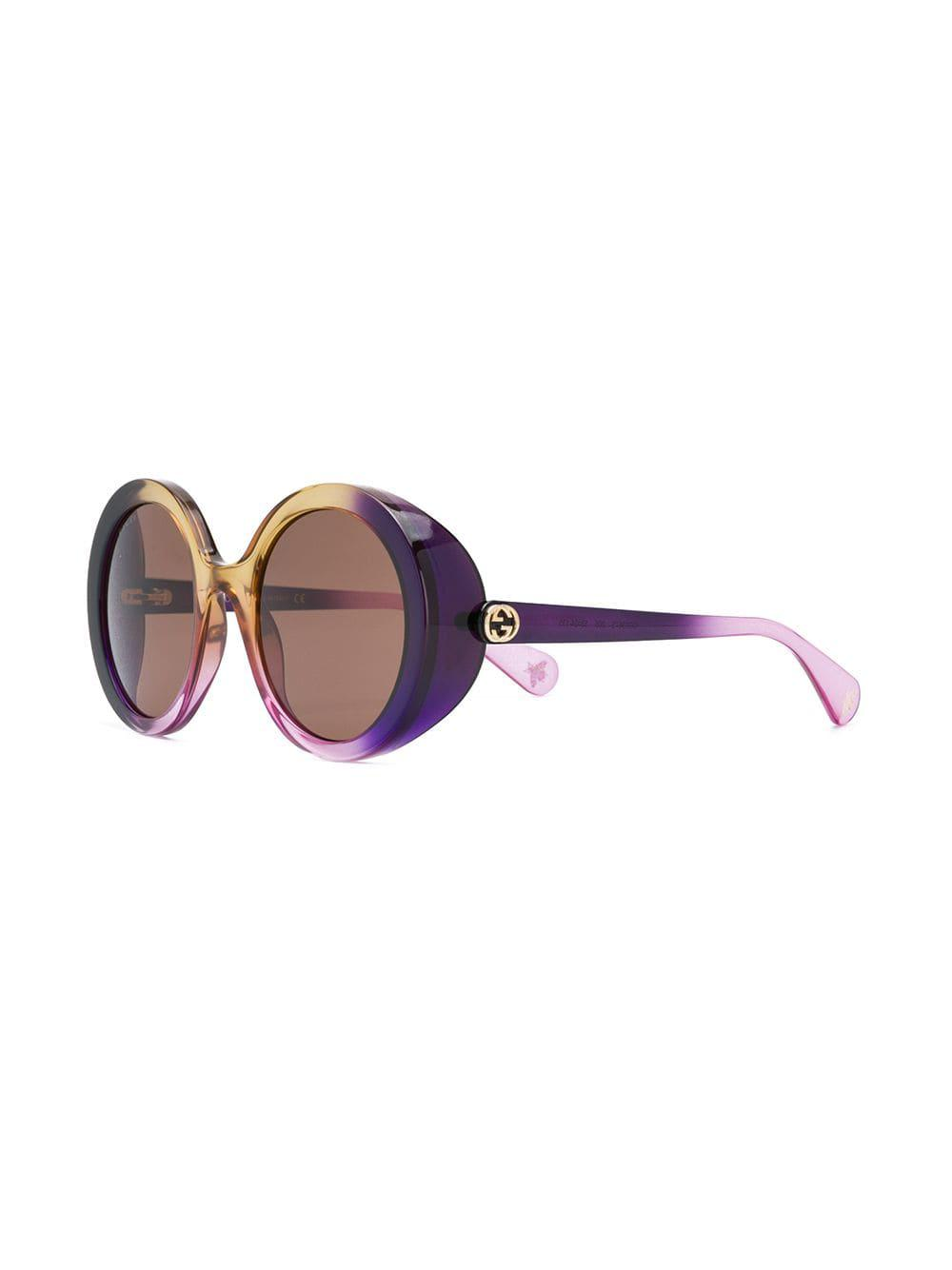 f2fa1a7a73e Gucci Gradient Tinted Sunglasses in Purple - Lyst