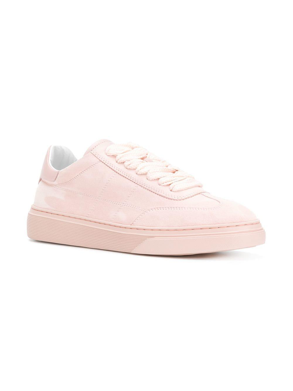 23fd1993c9 Lyst - Hogan Stitched Detailing Lace-up Sneakers in Pink - Save 12%