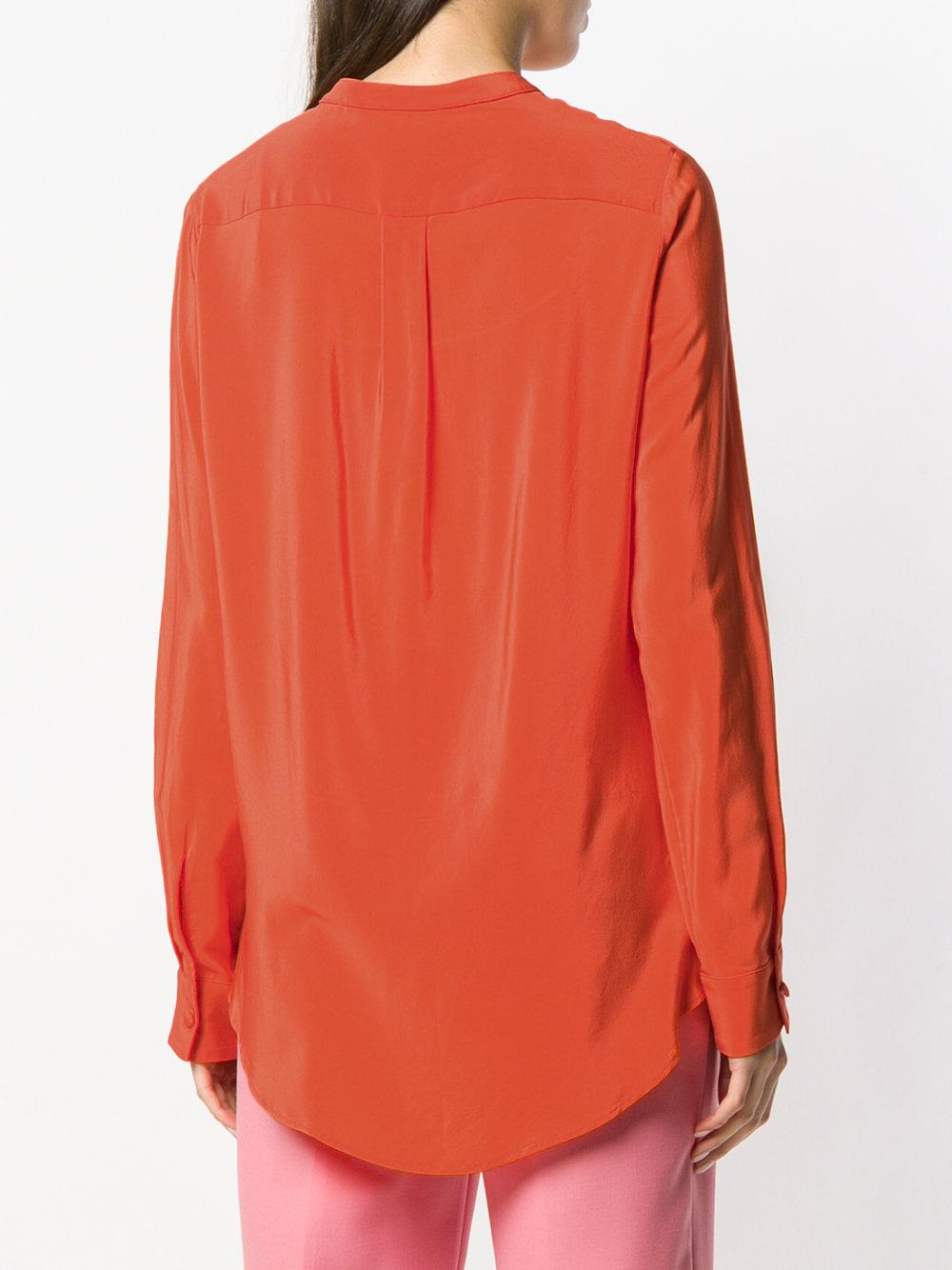 draped detail collarless blouse - Yellow & Orange Erika Cavallini Semi Couture Clearance Latest Collections 6KSGSkt