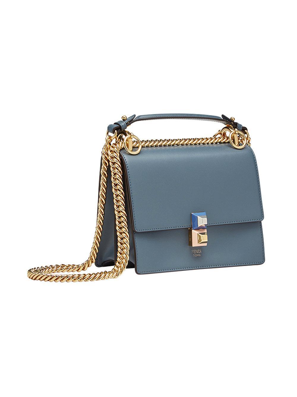 Fendi Petit sac porté épaule Blue Kan I TPW6uL9