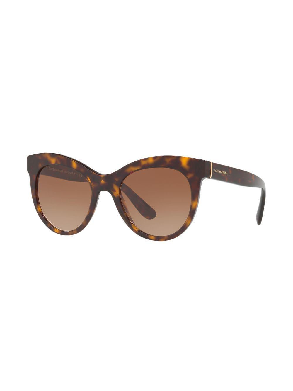626cbae8e5d Dolce   Gabbana - Brown Round Sunglasses - Lyst. View fullscreen