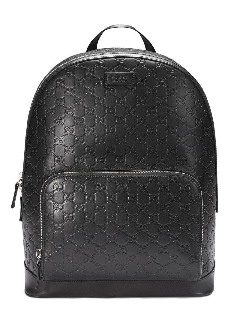 e38d8b6e741b Lyst - Gucci Signature Backpack in Black