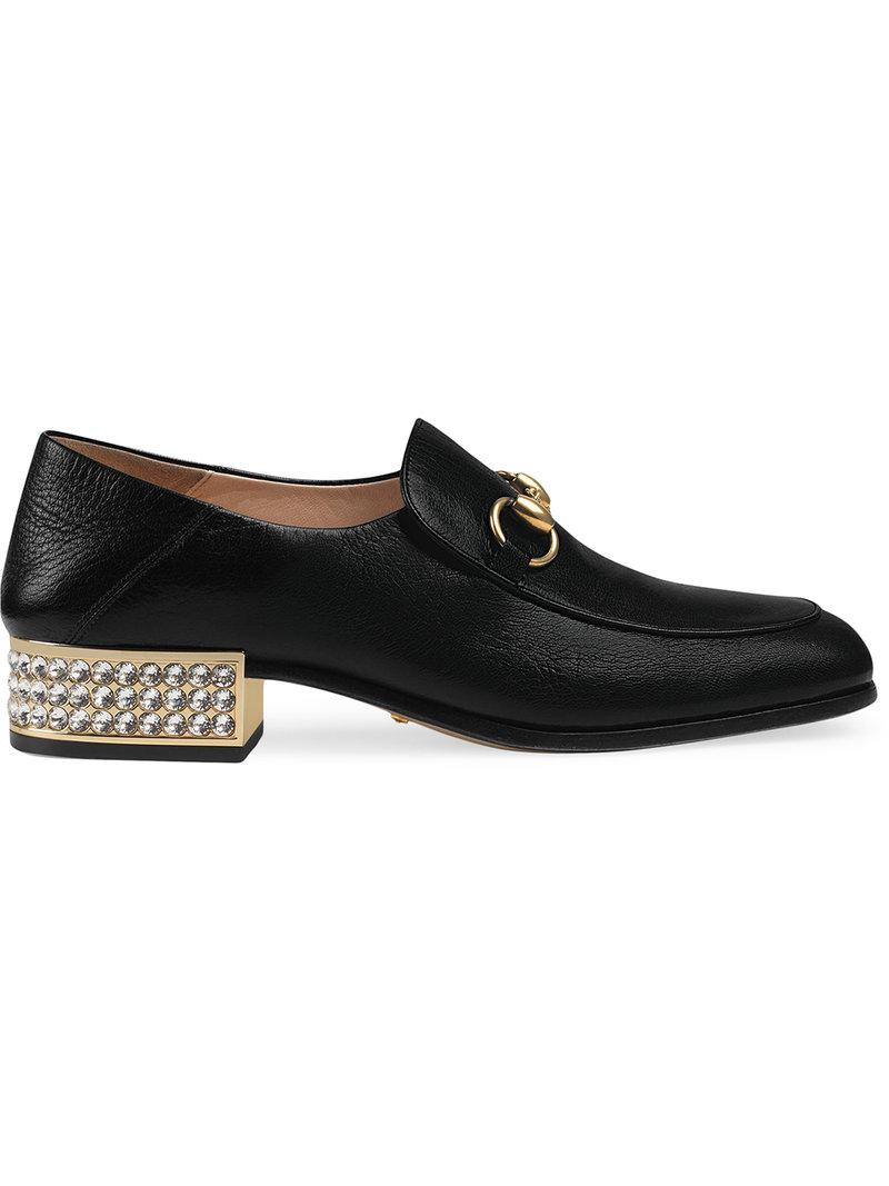 8f9b20be4e9 Lyst - Gucci Leather Loafers in Black - Save 11%