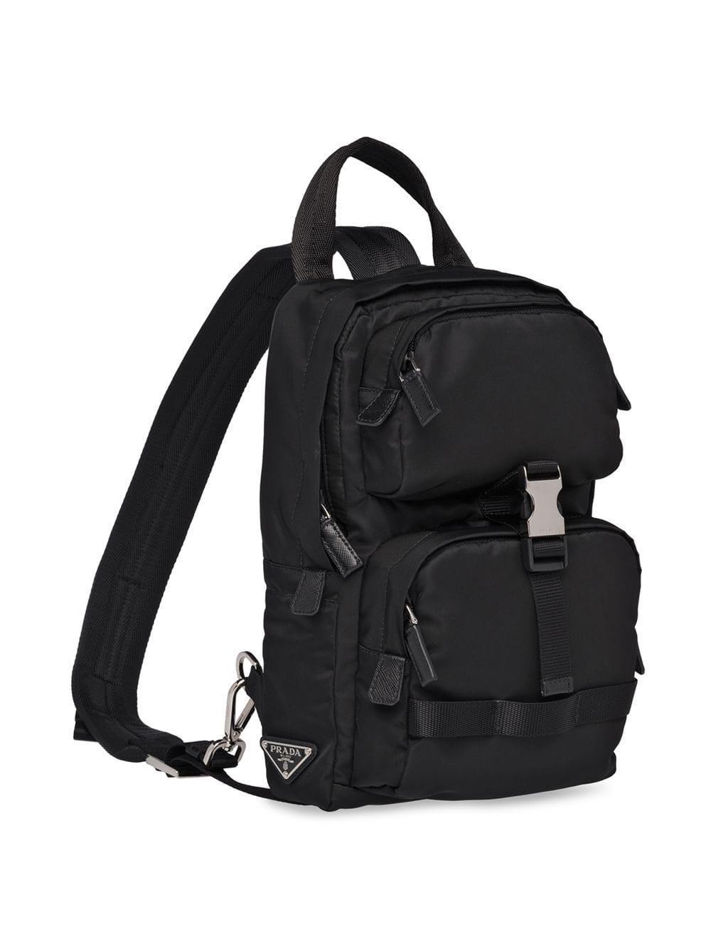 Prada - Black Sac à dos à fermeture à boucle de sécurité for Men - Lyst.  Afficher en plein écran 8511d509f99