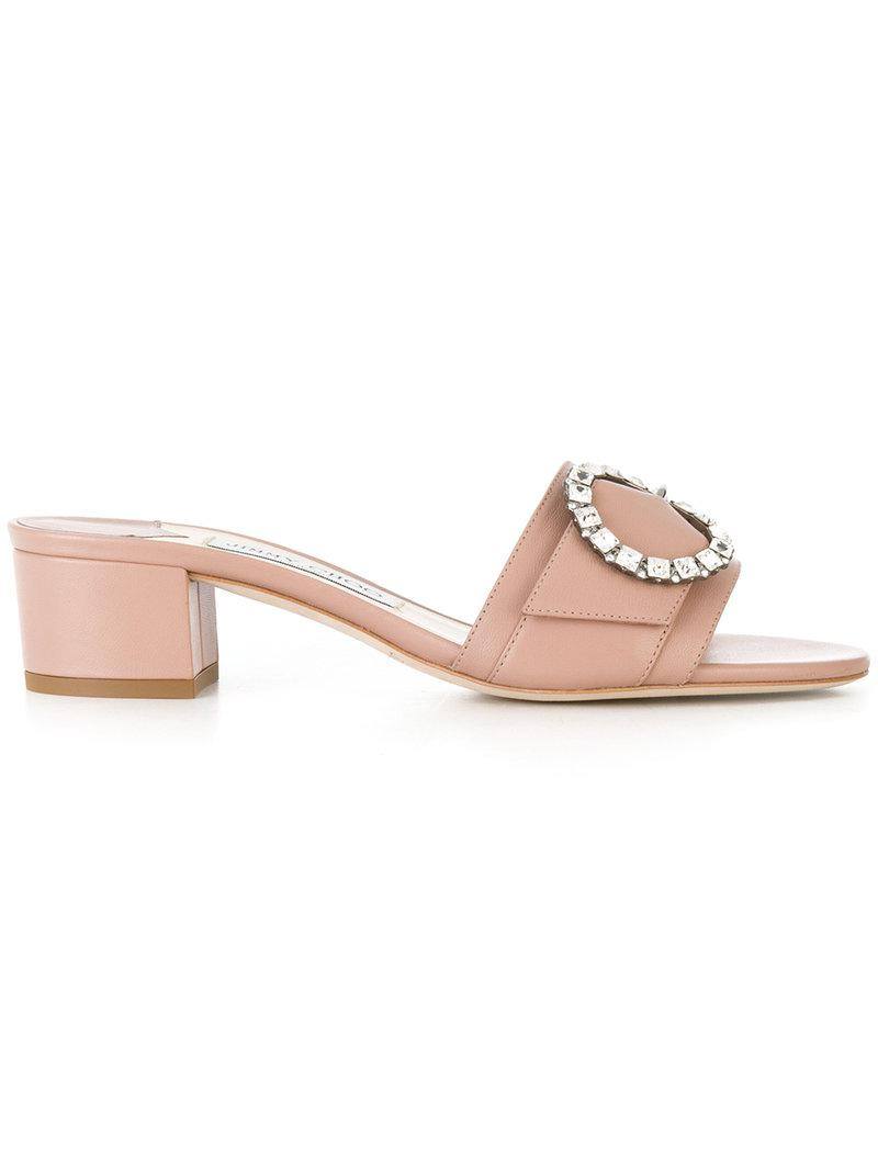 2a669645592 Jimmy Choo Granger 35 Mules in Pink - Lyst