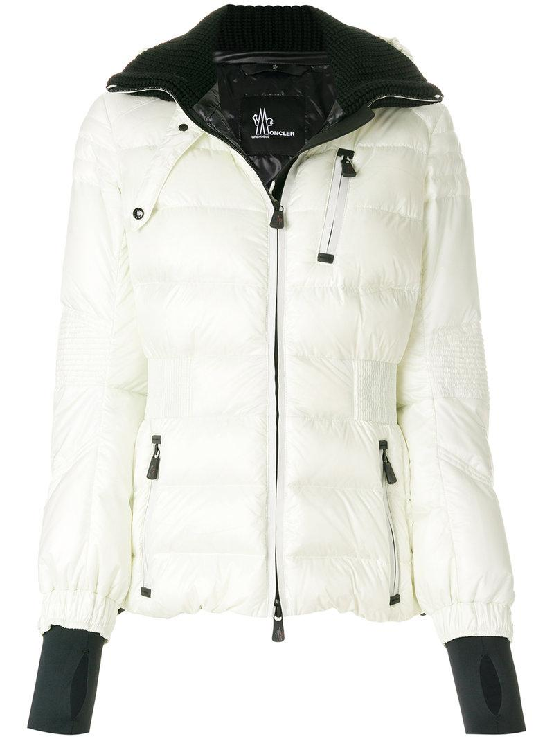 bd834b664 Lyst - Moncler Grenoble Ribbed Trims Padded Jacket in White