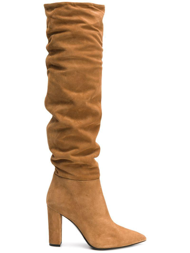 5049a8cbda9 Alberto Gozzi Heeled Boots in Brown - Lyst