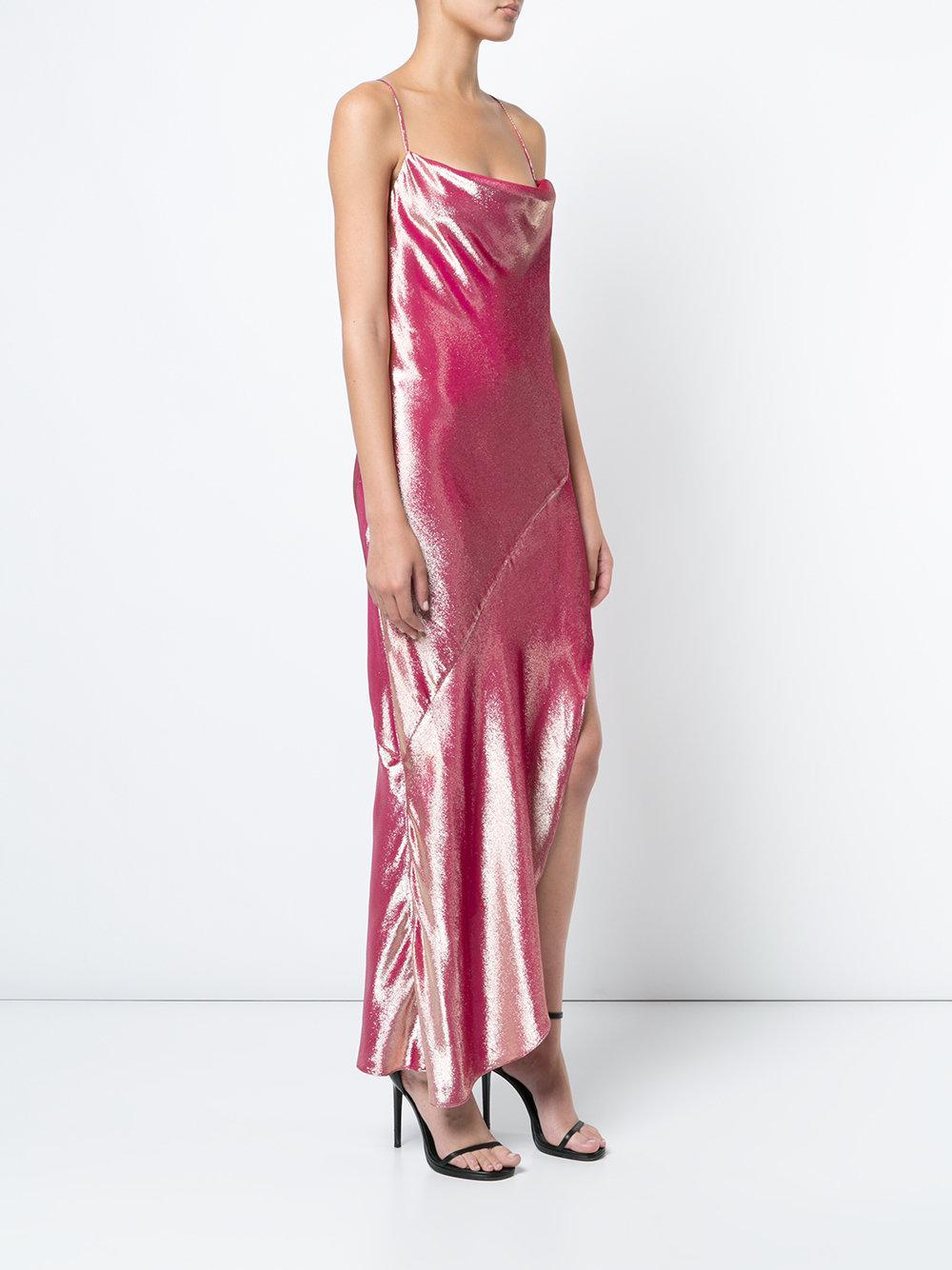 Haney Goldie rosa Vestido púrpura y asimétrico 0zEnwqT
