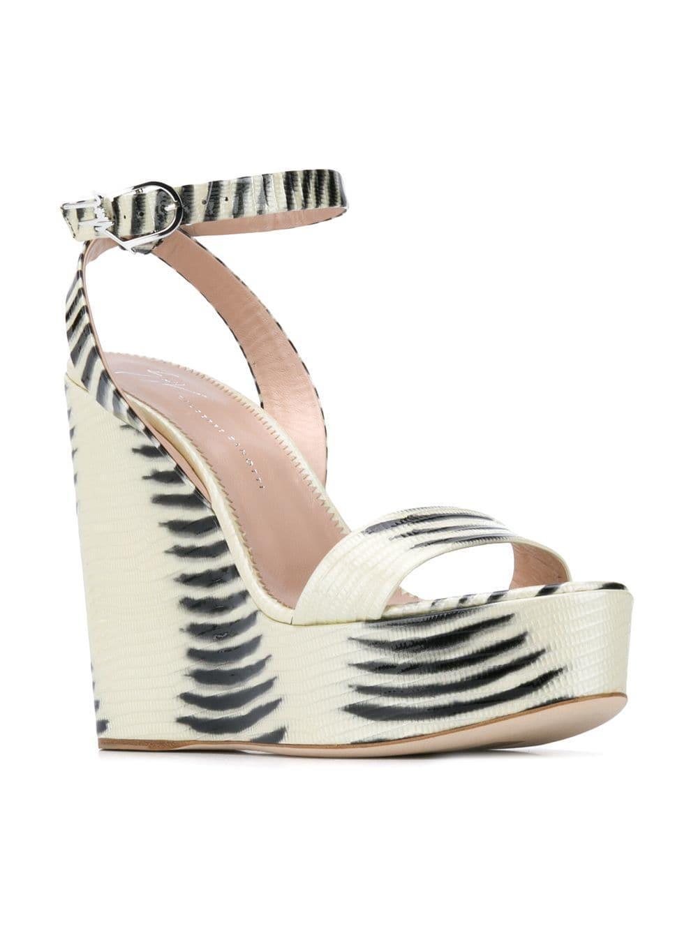 2808c23849a Giuseppe Zanotti - White Betty Wedge Sandals - Lyst. View fullscreen