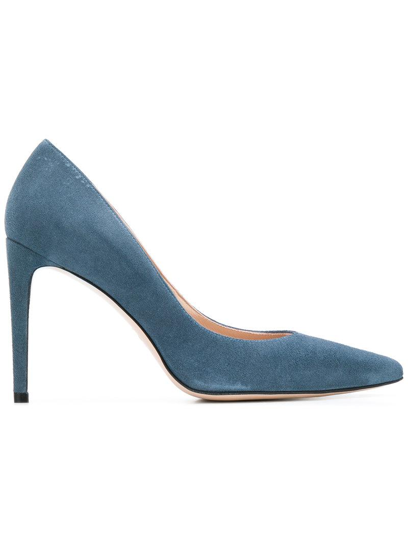 pointed denim pumps - Blue Stuart Weitzman I6QRy