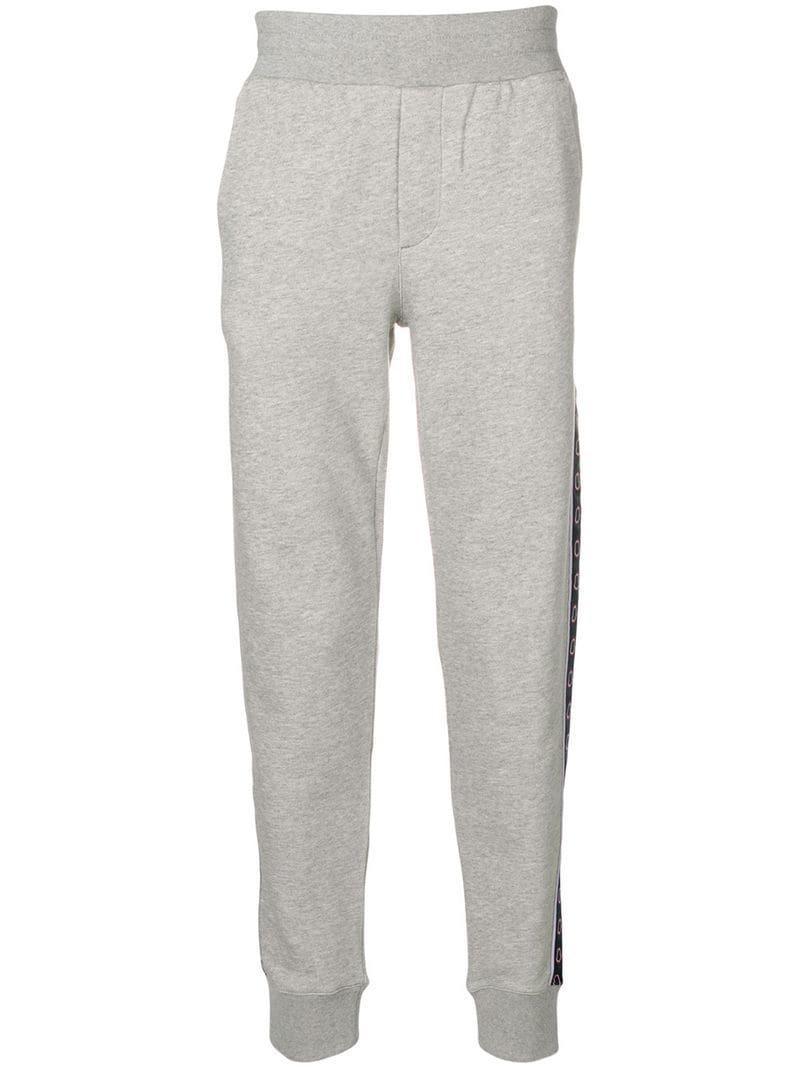 e3b9b930f14a Lyst - Moncler Side Logo Track Pants in Gray for Men