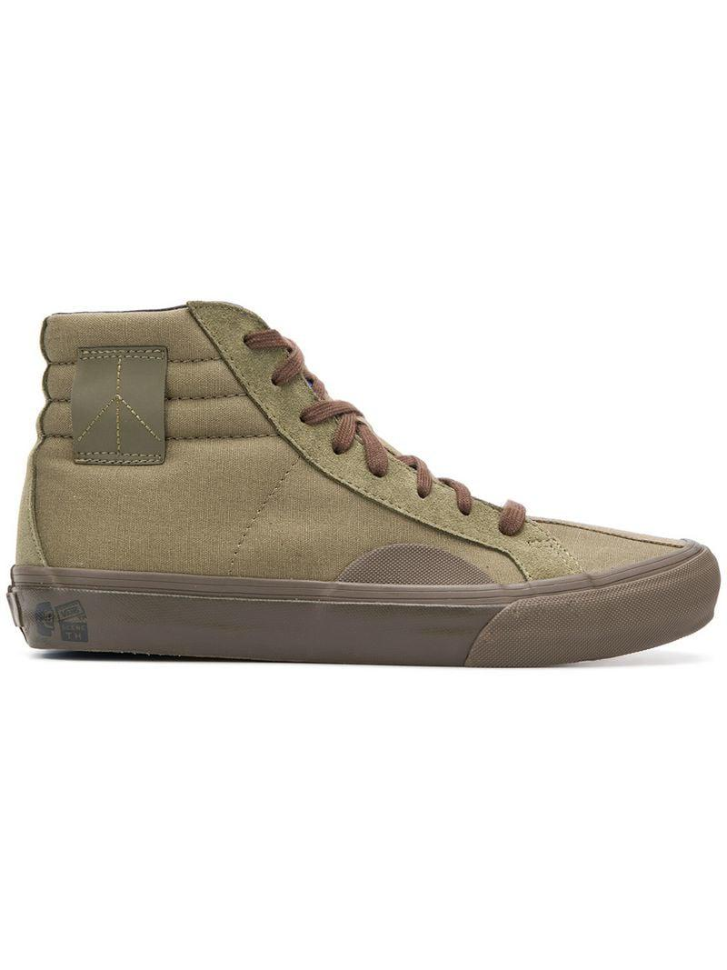aa00623144 Lyst - Vans Hi-top Sneakers in Green for Men