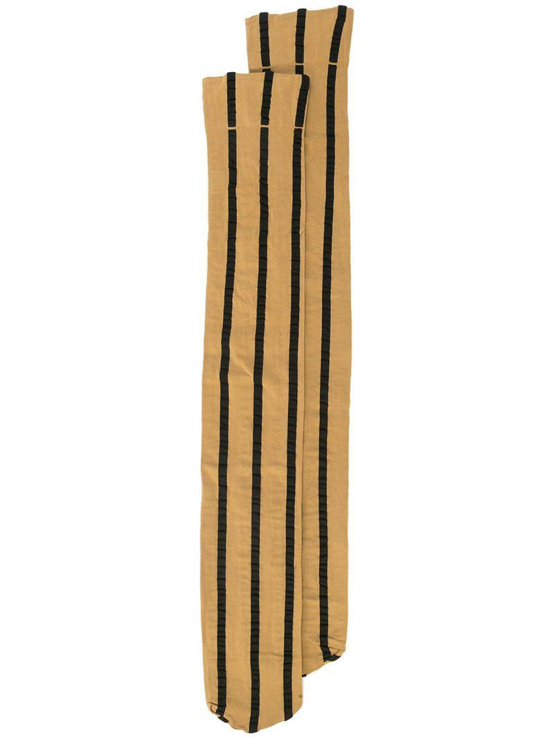 b7156a74ea5 Uma Wang Striped Knee-high Socks in Brown - Lyst