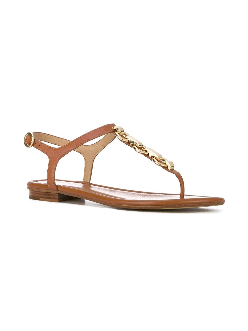 2aee2552880 Lyst - Michael Michael Kors Metallic Embellished Sandals in Metallic