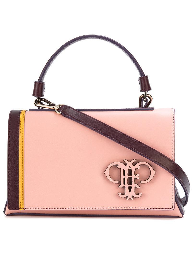 logo embossed shoulder bag - Pink & Purple Emilio Pucci Vn5POCpsG