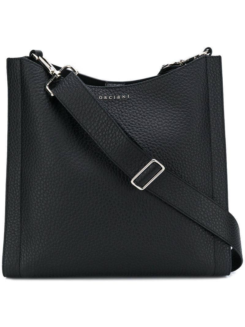 5332fcab16f6 Lyst - Orciani Logo Shoulder Bag in Black