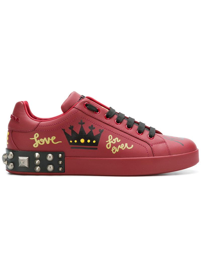 newest collection 31c9d 1cd6f Dolce   Gabbana. Zapatillas estampadas con apliques de hombre ...