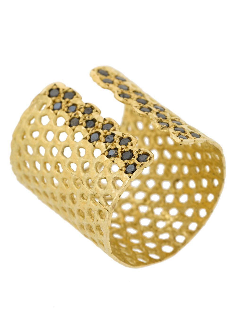 Lara Melchior diamond cuff ring - Metallic WDEZZ90