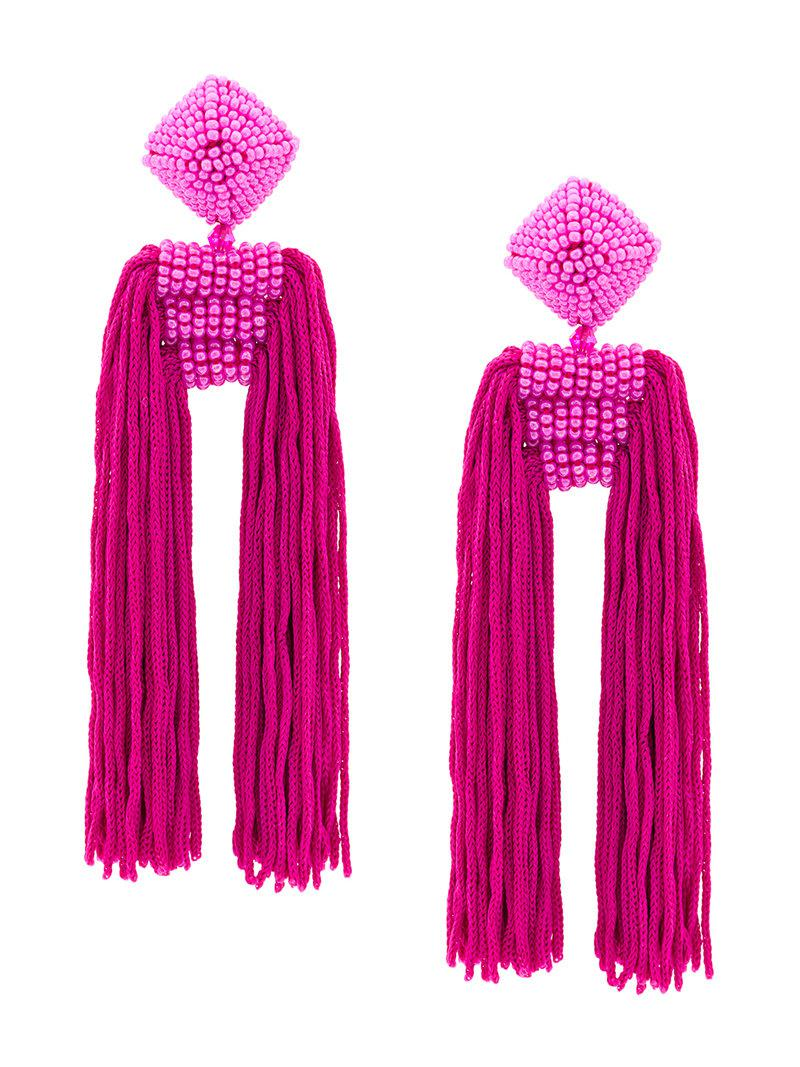 Dupio earrings - Pink & Purple Sachin & Babi uM58lX