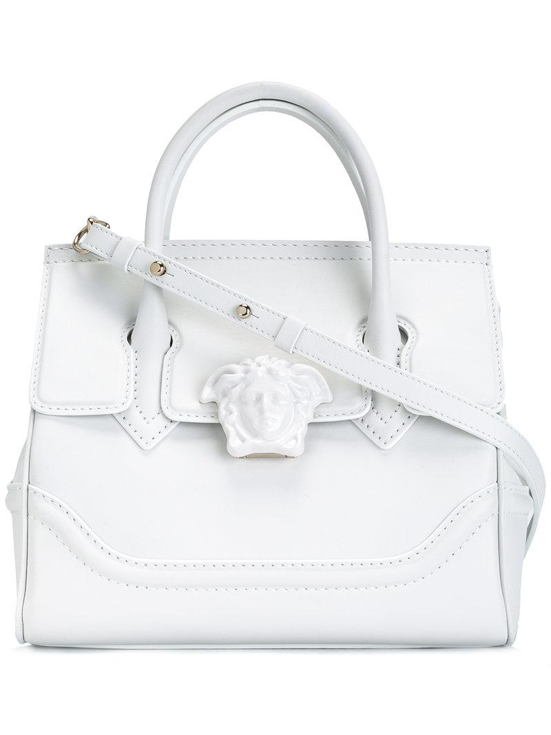 1278616bcecb Versace Palazzo Empire Shoulder Bag in White - Lyst