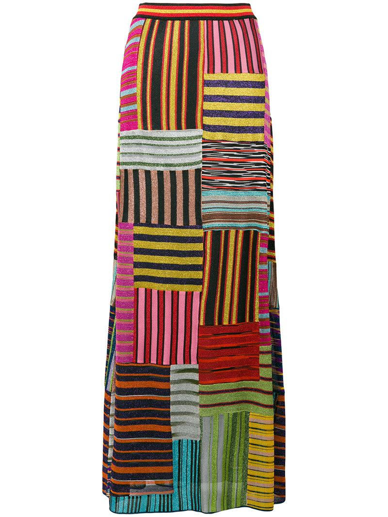 Missoni. Women s Patchwork Striped Skirt a83f60fbb1cd8